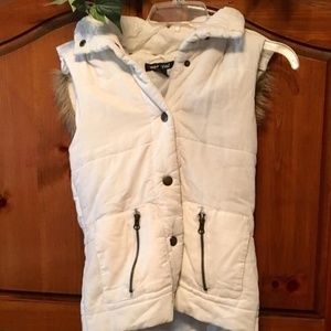 Cute Corduroy Vest with hood by Wet Seal